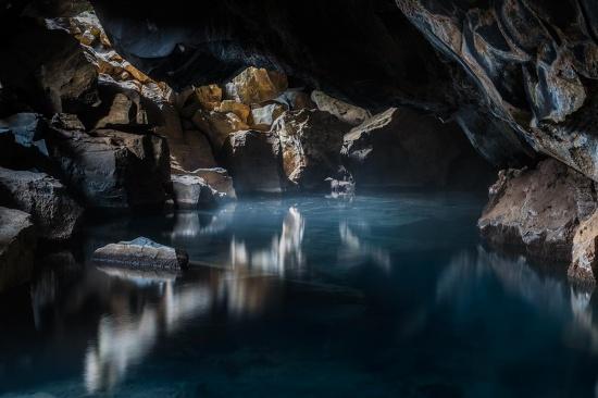 Grótagjá geothermal pool